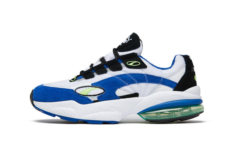 PUMA Cell Venom White Surf the Web Blue shoe sneaker where to buy release date info 2018 retro runner