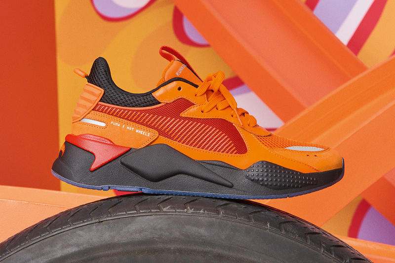 cd5699ff983384 Mattel Hot Wheels x PUMA RS-X Footwear Apparel Lookbook Collab  Collaborations Sneakers Kicks Shoes