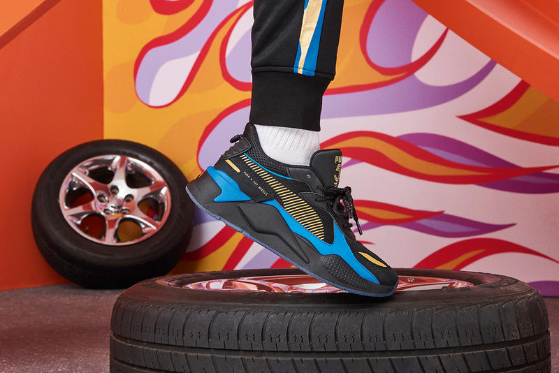 Mattel Hot Wheels x PUMA RS-X Footwear Apparel Lookbook Collab Collaborations Sneakers Kicks Shoes Trainers Footwear Cop Purchase Buy