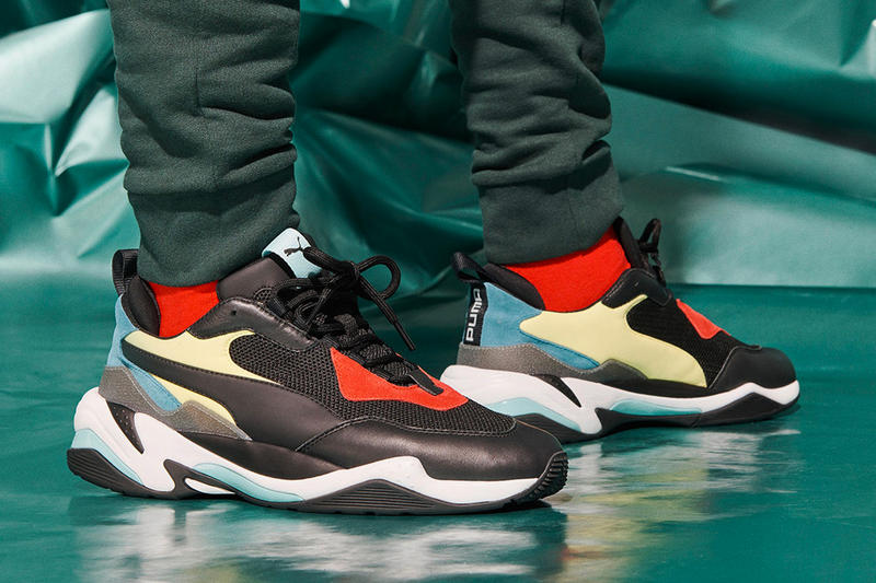 PUMA Thunder Spectra Black Friday Restock Third Release Original Colorway Black Yellow Red Blue dad sneaker chunky trainer footwear big sole