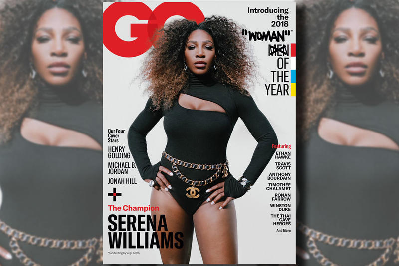 serena williams virgil abloh gq cover woman man of the year 2018 controversy twitter quotation marks quote drawing drawn december issue magazine