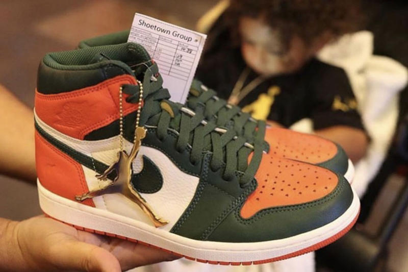 b82d68e5b759 SoleFly Air Jordan 1 Art Basel Miami Release Date Green Orange White Info  hurricanes dj khaled