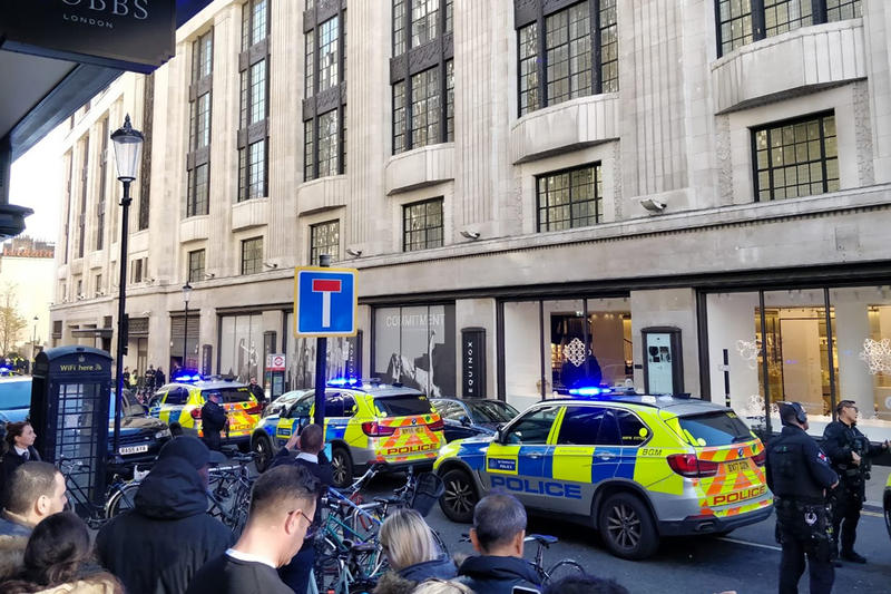 Sony Music Stabbing West London HQ Music Arrested Incident Armed Police Kensington Buillding Breaking News Details