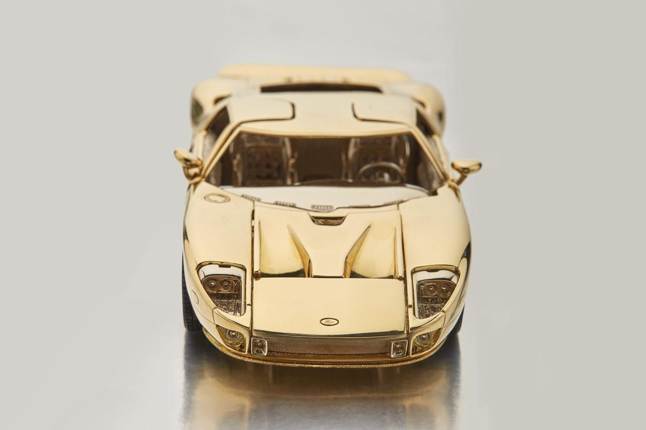 Sothebys  Karat Gold   Scale Ford Gt Model Auctions Cars Sports Card
