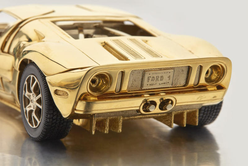 Sotheby's 18-Karat Gold 1/25 Scale Ford GT Model Auctions cars sports card manufacturing Henry Ford
