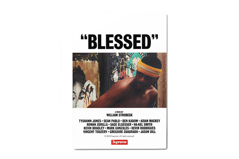 """Supreme """"BLESSED"""" DVD Back Cover"""