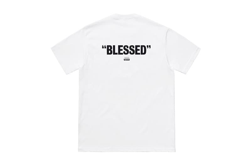 """Supreme """"BLESSED"""" DVD White T-Shirt Back"""