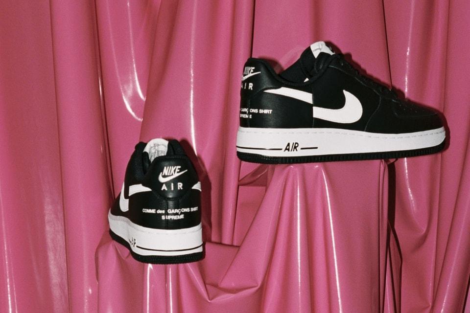size 40 b5b58 e3364 Supreme Releases Official Details to the COMME des GARÇONS Shirt x Nike AF1