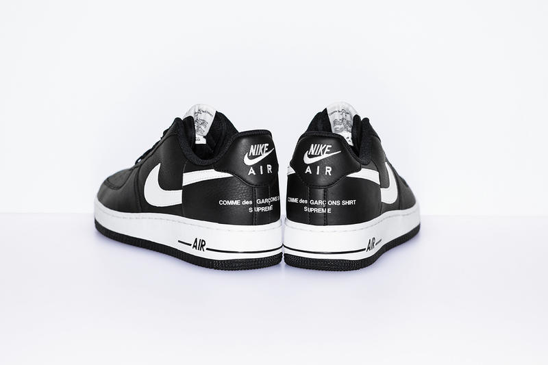 reputable site fc3b9 a2656 Supreme x Comme des Garcons Shirt x Nike AF1 Official Info ...
