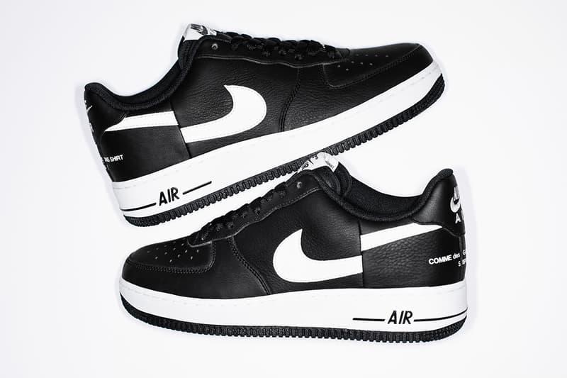 Supreme x Comme des Garcons Shirt Nike AF1 Official Info sneaker kicks fashion cdg Footwear New York uptowns skate