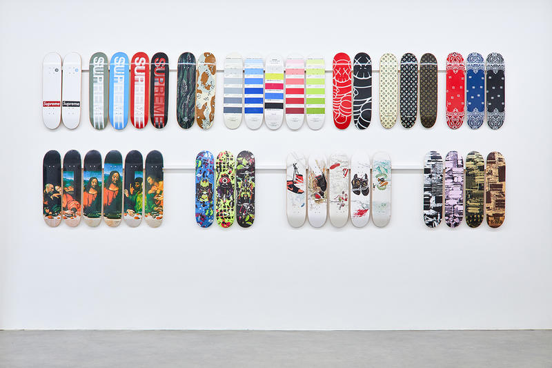 supreme skateboard deck inferno exhibition jason vass gallery stockx sothebys collection complete entire every print graphic exclusive archive collection december 2 15 2018