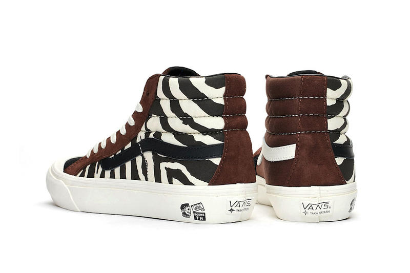 Taka Hayashi x Vans TH Style 138 LX Animal Pack release date info price leopard print zebra black brown blue sneaker colorway collaboration