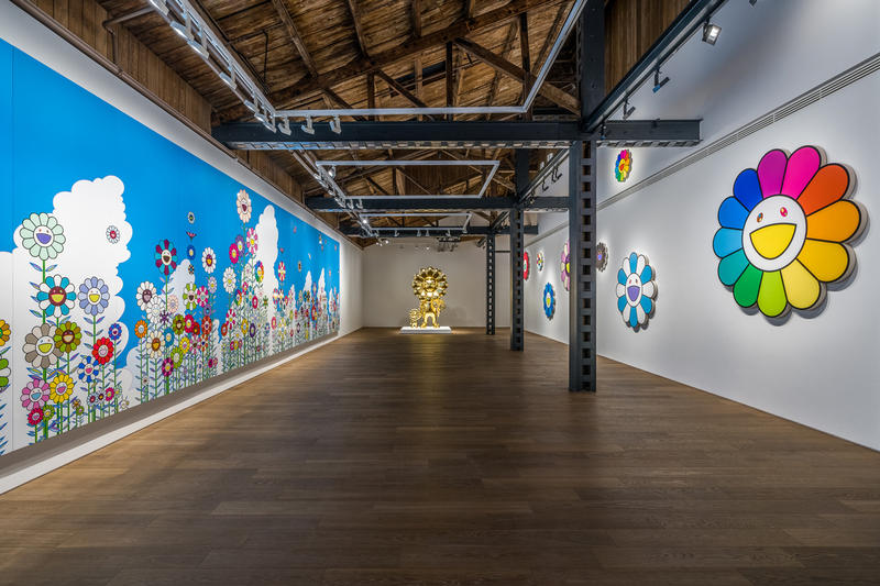 takashi murakami in wonderland perrotin shanghai exhibition artworks paintings sculptures installations