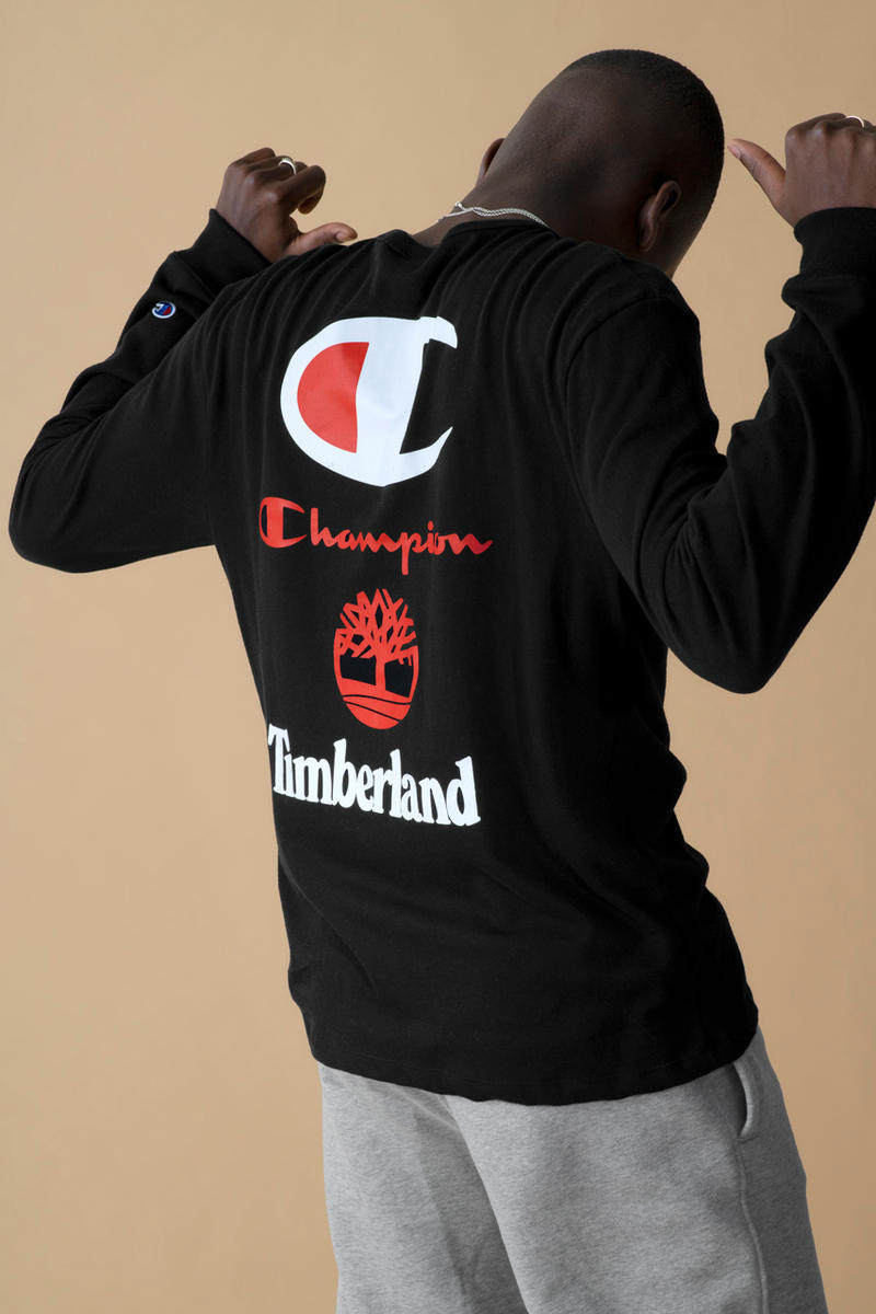 "Champion x Timberland ""Luxe Pack"" 6-Inch Boot sport pack collaboration collection hoodie logo t shirt colorway release date footlocker"