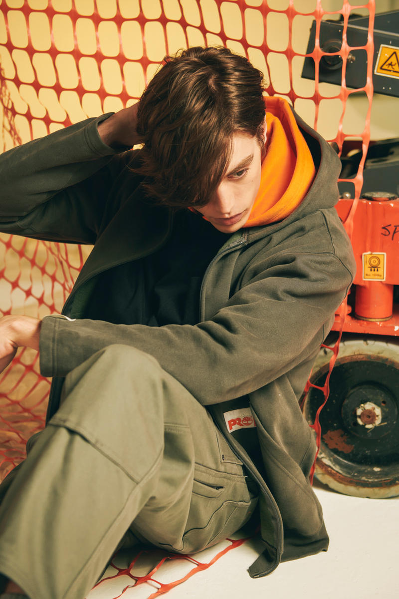 Timberland PRO® N. HOOLYWOOD FW18 Capsule 6-Inch Direct Attach Soft Toe Disrupter Pocket T shirt Zip  Hoodie Dungaree Worker Jacket Pants release date purchase buy now
