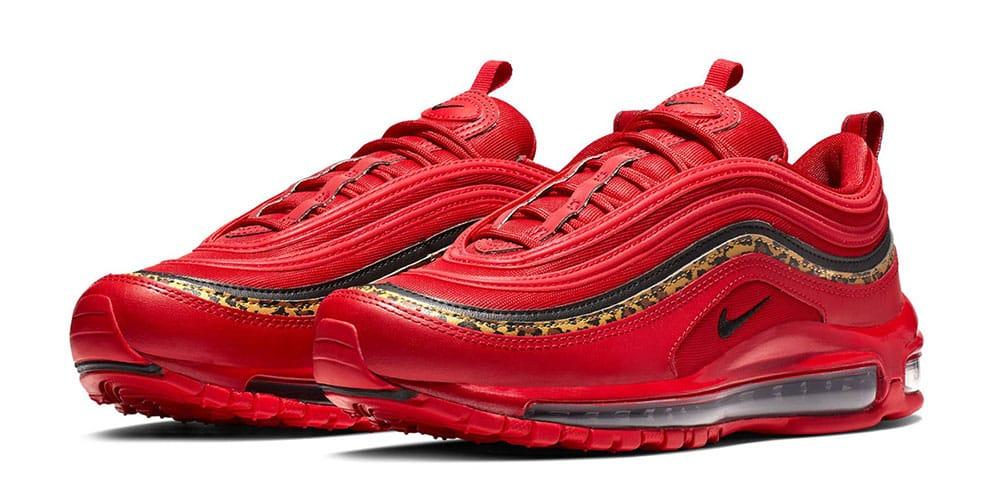 Nike Air Max 97 Red Leather \u0026 Leopard