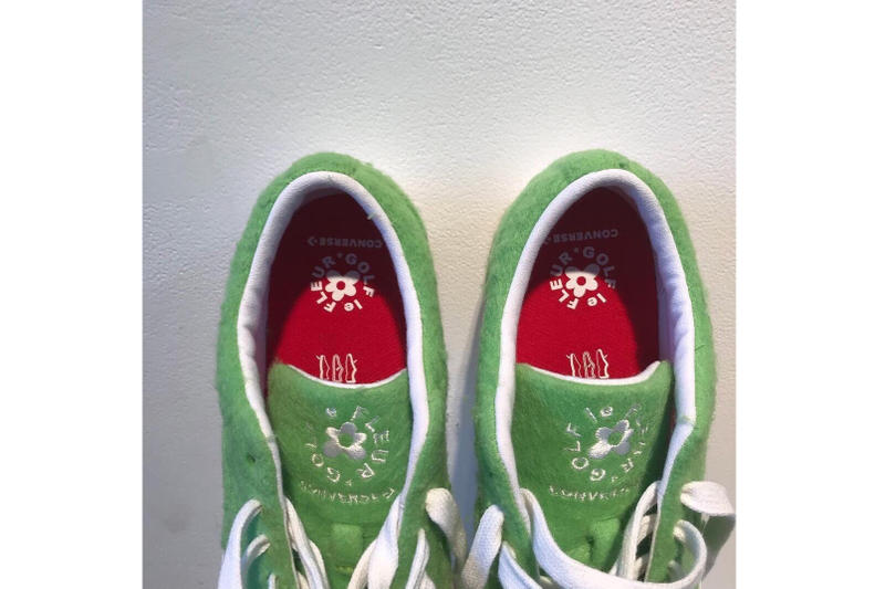 The Grinch x GOLF le FLEUR* x Converse Collab tyler the creator green fuzzy red Dr. Seuss