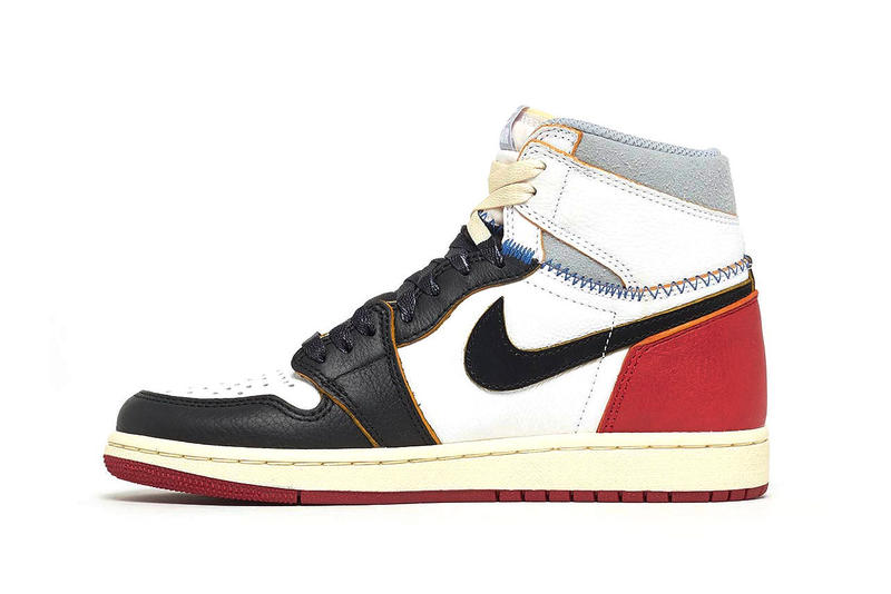 Union LA Air Jordan 1 Grade School Release White Varsity Red Wolf Grey Black kids sizes
