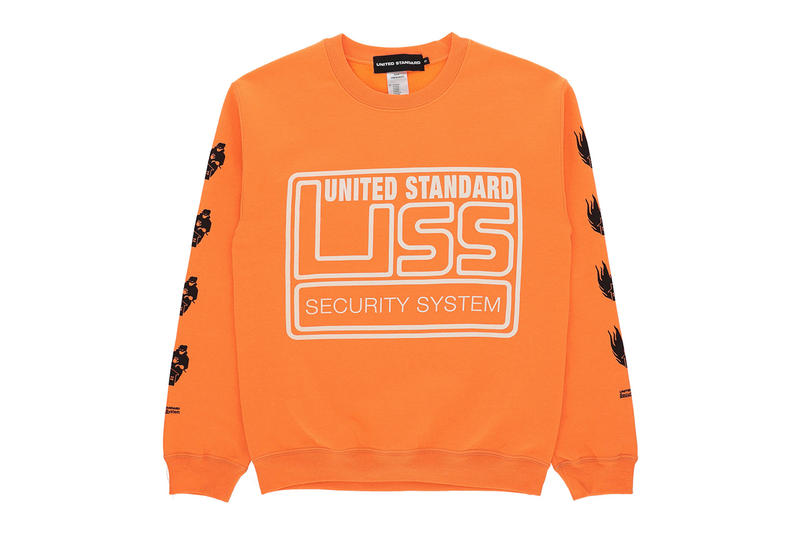 United Standard Capsule collection fall winter 2018 drop release virgil abloh some ware perks and mini pam collaboration sweater pants shirt tee print graphic tote bag lanyard