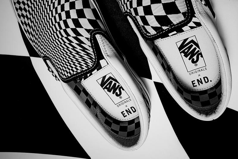 END. x Vans 'Vertigo' OG Old Skool Slip On Shoe Details Shoes Sneakers Kicks Trainers Footwear Cop Purchase Buy Release Date