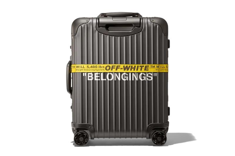 "Off-White x RIMOWA ""PERSONAL BELONGINGS"" Capsule luggage germany virgil abloh"