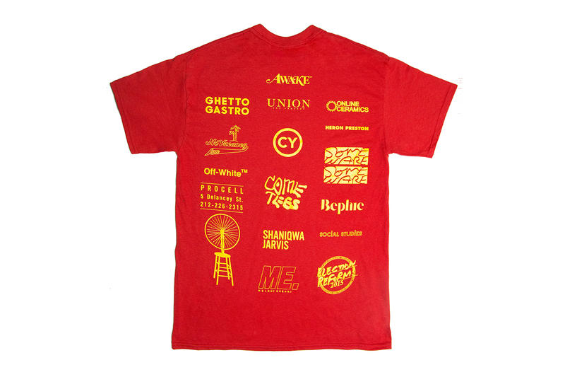 Virgil Abloh Social Studies new york Limited Tee Shirt design print logo stuyvesant leader physical education red yellow black white buy sell drop release date info november 16 2018