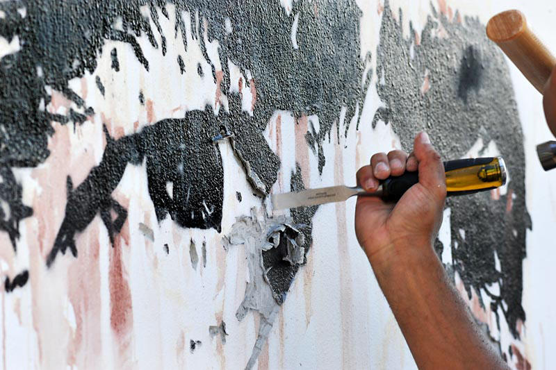 wynwood walls art basel 2018 programming vhils exhibition beyond words artworks art artists paintings sculptures installations