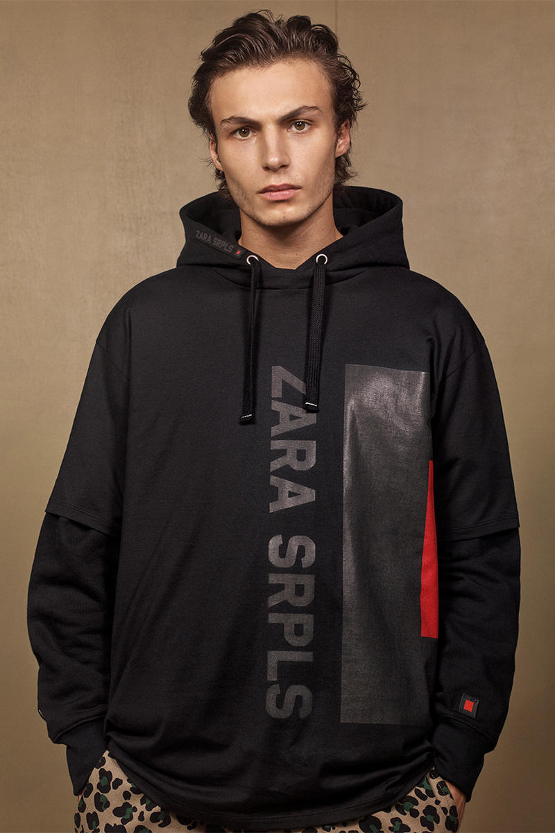 "Zara ""SRPLS"" 2018 Lookbook Fashion Clothing Collection Cop Purchase Buy Items Military Streetwear Utilitarian Army Navy Khaki Bomber Camouflage Coat"