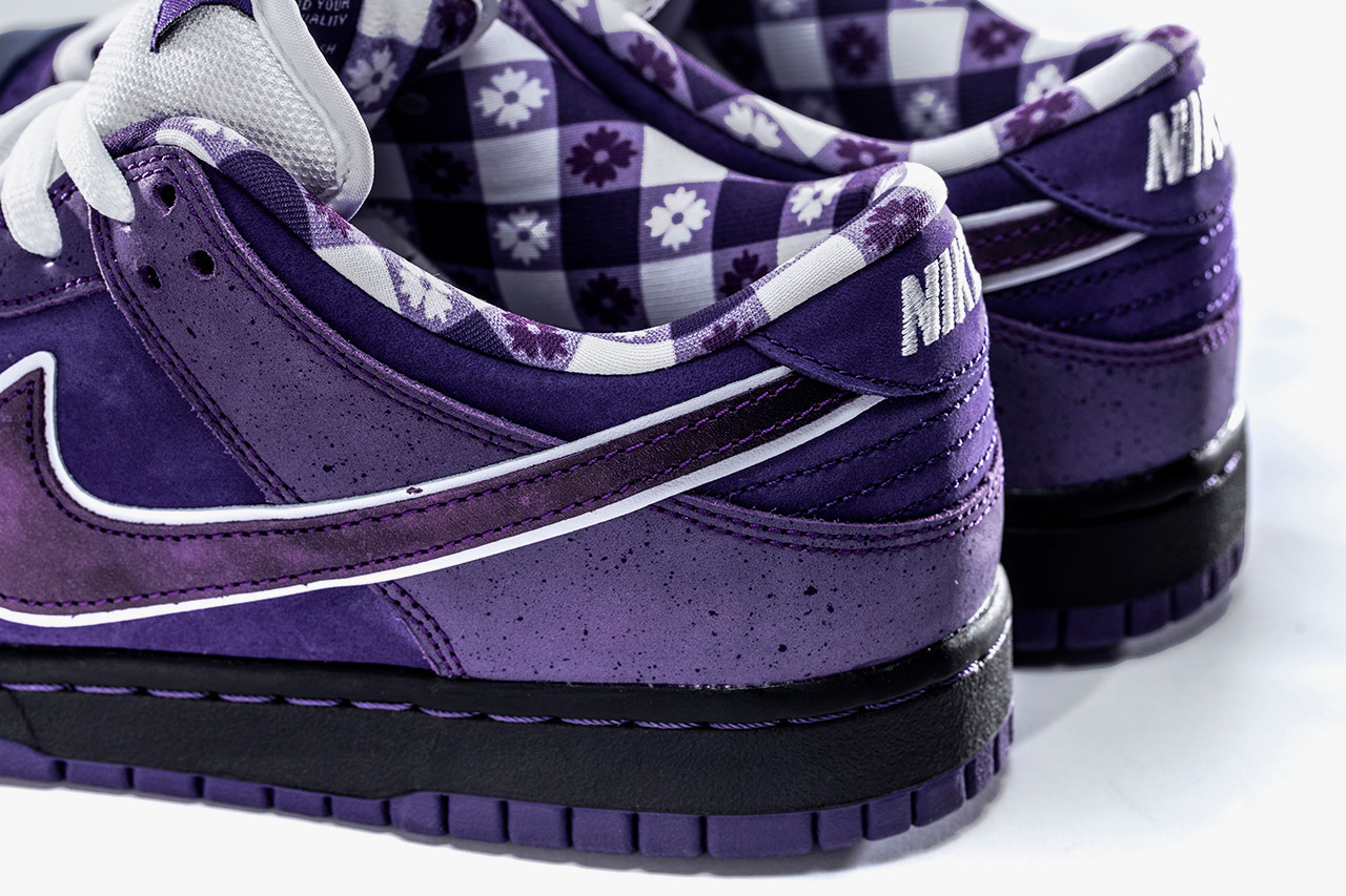 Concepts Nike SB Dunk Low Purple Lobster Closer Look Cop Purchase Buy Release Date Details Coming Soon Available Sneakers Shoes Trainers Kicks Footwear image photo rubber band laces