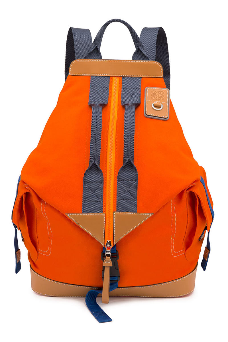 LOEWE eye nature capsule collection rucksack day pack messenger bag shoulder boots leather shoes adventure outdoors clothing fleece jacket mountain parka shorts cargo graphic tee shirt long sleeve short January 10 2019