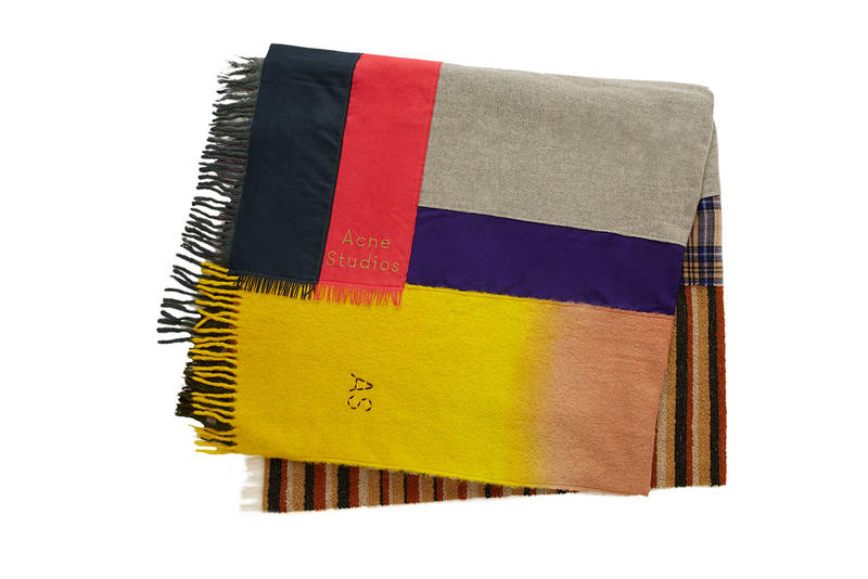 Acne Studios scarf scarves home goods interior design blanket pillow throw mug cup limited edition handmade pattern canada kelow cassiar plaid check wash dip dye wool oversized handmade