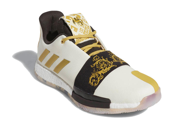 adidas harden vol 3 wanted release info footwear james harden the beard stepback white gold black