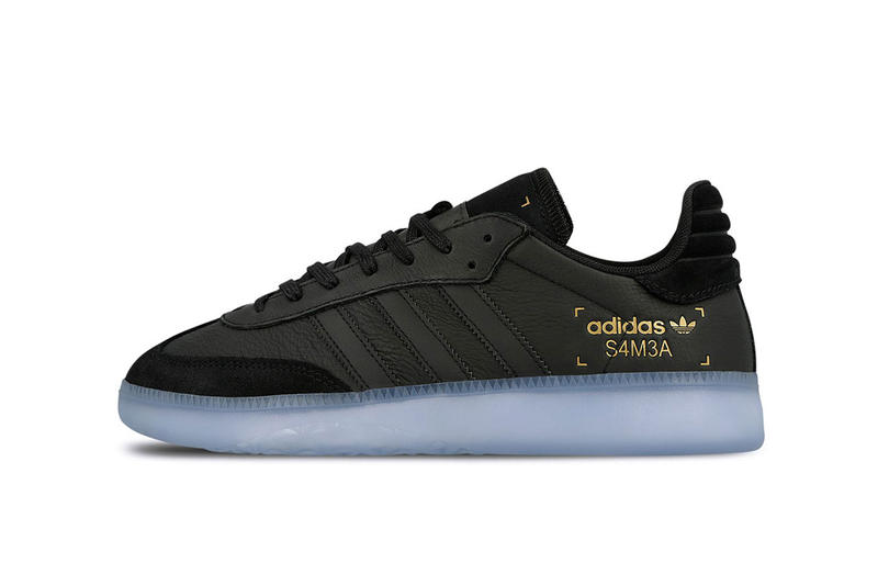 adidas samba boost rm black colorway sneaker release date info january 1 2019 drop shoe 32731 BD7476 blue sole originals