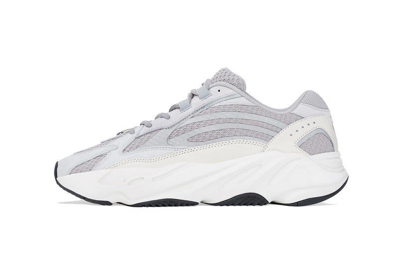 "adidas YEEZY BOOST 700 V2 ""Static"" on StockX waverunner mesh leather waves grey tonal light of white back kanye west sneakers running chunky 3m material"