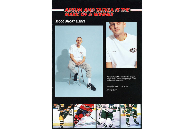 Adsum x Tackla Capsule Collection Details Collab Collaborations Cop Purchase Buy Lookbook Hockey Release Details