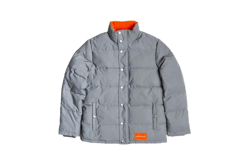 Calvin Klein Jeans Silver Puffer Jacket Giveaway coat metallic color grey reflective