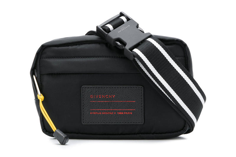 givenchy logo patch belt waist shoulder bag pack black red stripe clare  waight keller accessory advent 6fdcf0833395b