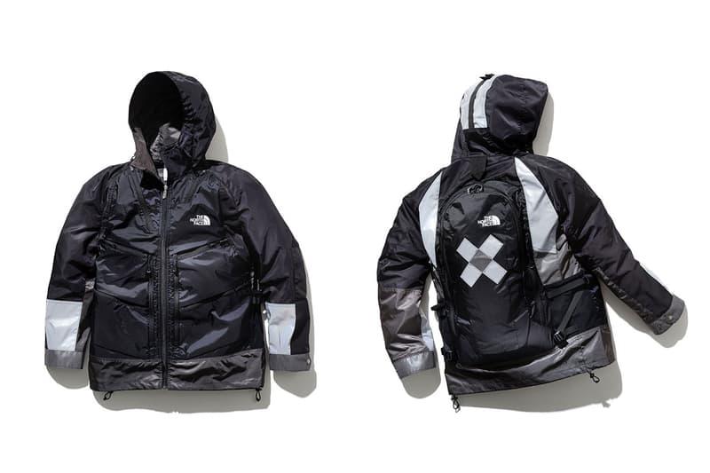 junya watanabe the north face backpack jacket fall winter 2018 collaboration giveaway navy silver strap