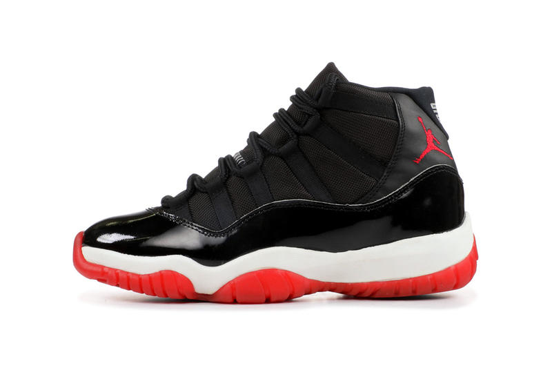 "air jordan 11 bred ""black/white-varsity red"" holiday release nike footwear sneaker info price pricing jordan brand 378037-061"