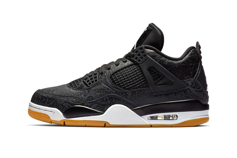 04aa524f99f3 Air Jordan 4 Black Laser Official Look Gum sole 30th anniversary White  Light Brown Brand