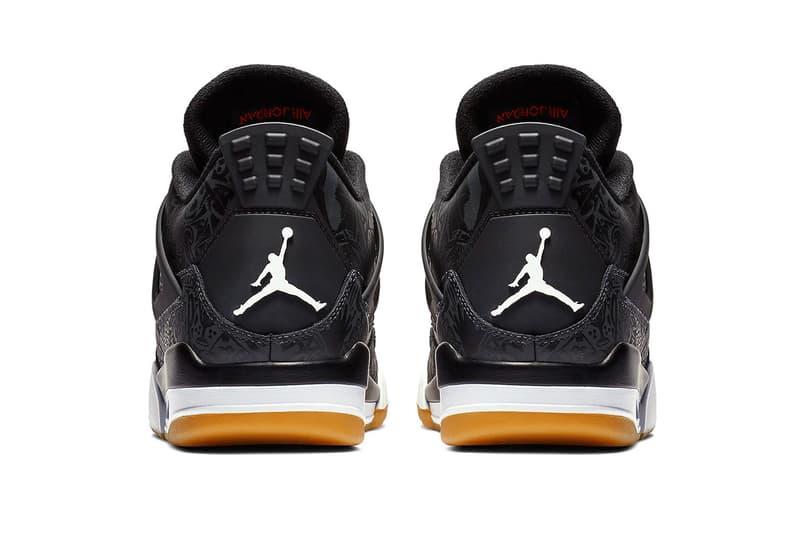 Air Jordan 4 Black Laser Official Look Gum sole 30th anniversary White Light Brown Brand