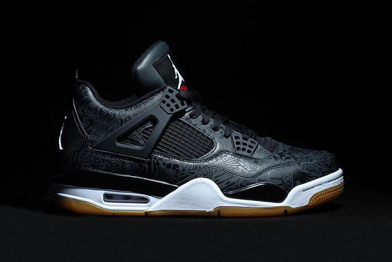 4643d785fb66 ... Year. Celebrating the model s 30th anniversary. Air Jordan brand 4  Laser SE Black Gum january march 2019 rlease
