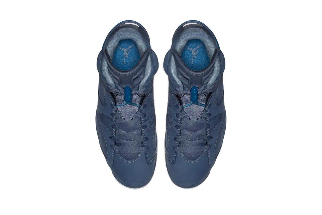 retro 6 diffused blue court blue