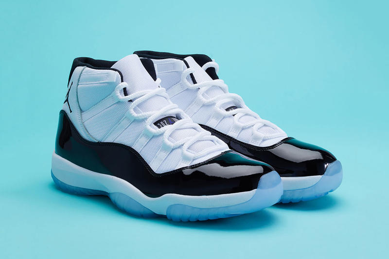 "Air Jordan 11 ""Concord"" Now on StockX air jordan 11 concord closer look 2018 december footwear jordan brand  white black patent leather 45 4 5 michael giveaway"