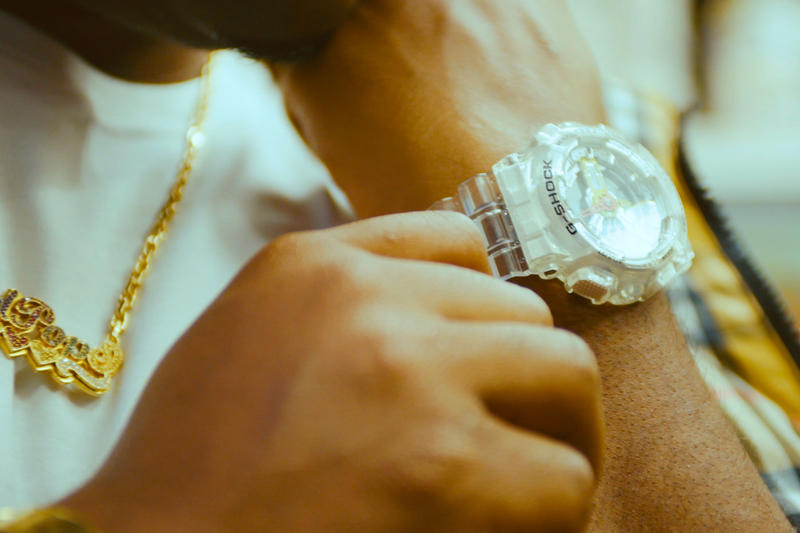 A$AP Ferg x Casio G-SHOCK GA-110 Watch collaboration release date info price diamond transparent multicolor