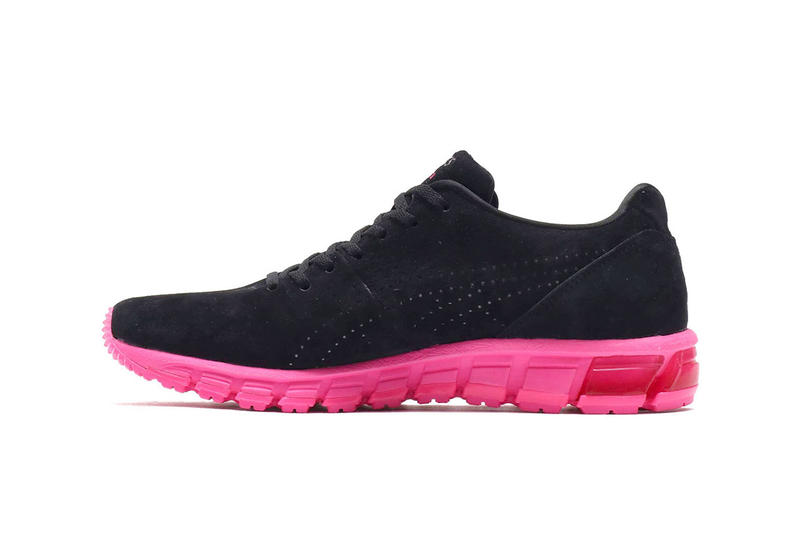 """atmos ASICS GEL-Inst.180 """"Neon"""" Pack Collab sneaker pink yellow colorway marquee player protection spray can december 15 2018"""