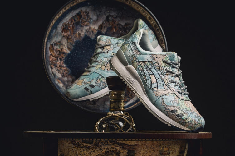 atmos asicstiger gel lyte iii world map footwear shoes kicks sneakers collaborations
