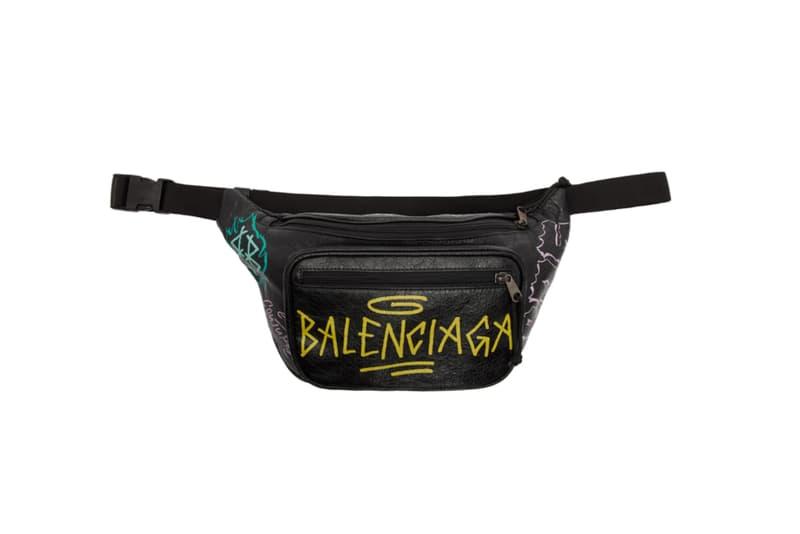 9e08ff8c0c75 Balenciaga Graffiti Explorer Belt Bag accessories leather