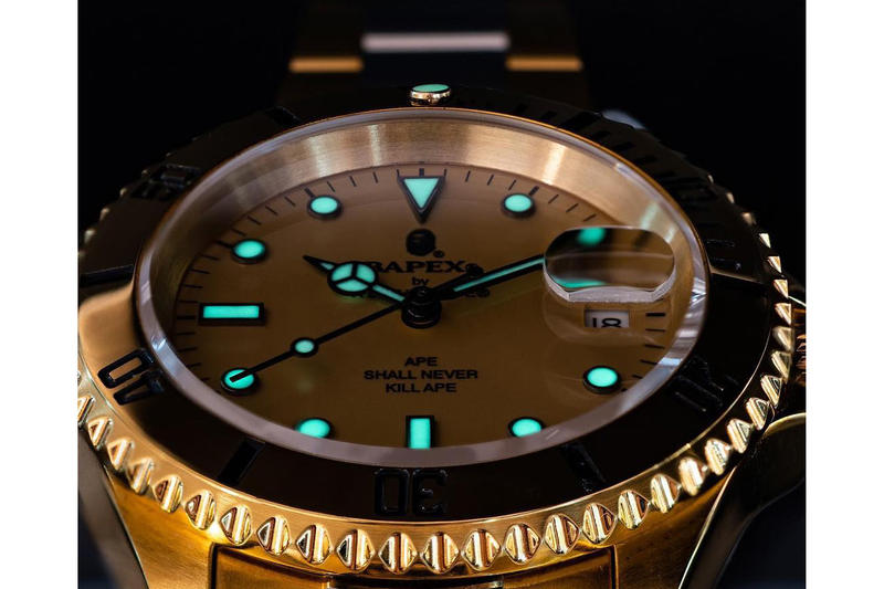 BAPE Debuts Type 1 BAPEX in Gold and Silver a bathing ape watches timepieces rolex
