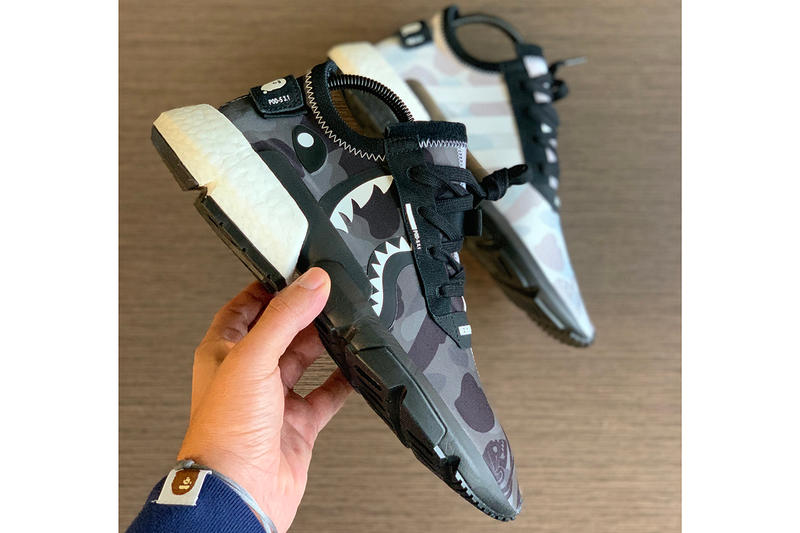 BAPE x NEIGHBORDHOOD x adidas POD-S3.1 Closer Look Shoes Trainers Kicks Sneakers Footwear Collab Collaboration Collaborative Shoe Cop Purchase Buy Yankeekicks